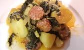 Feuilles de blettes pommes de terre au chorizo