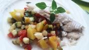 Filet de turbot aux légumes d'été et mangue1