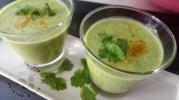 Soupe froide de courgette saveurs indiennes2