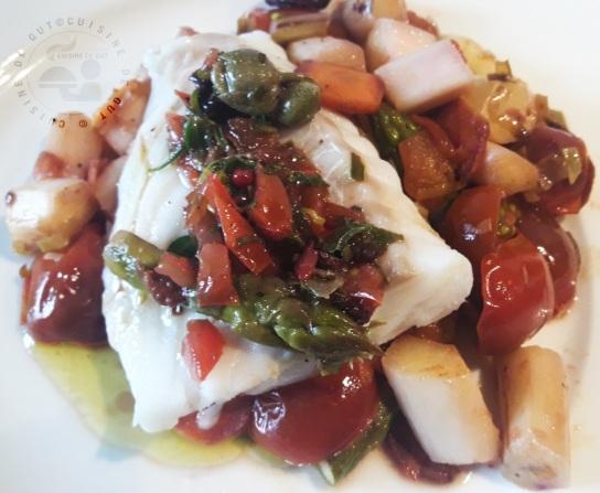 Cabillaud sauce vierge aux 2 asperges3