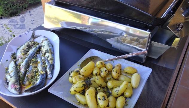 Plancha de sardines et grenailles à la chermoula2