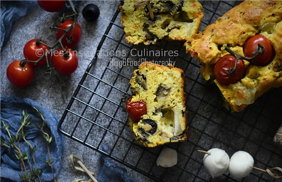 Cake aux aubergines coppa et curcuma SAMAR