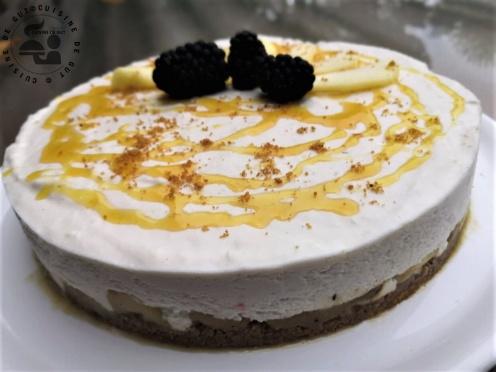 CHEESE CAKE AUX POMMES sans cuisson sirop d'érable et caramel citronné2