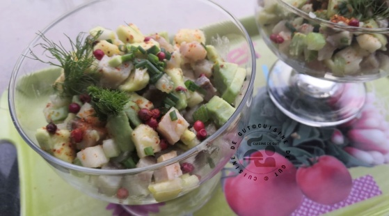Salade de hareng avocat pomme et fenouil2