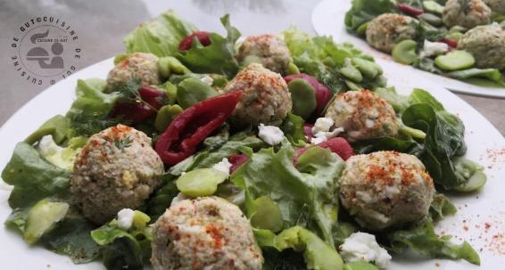 Boulettes de thon oeuf dur et fèves au saveur de Yuzu1