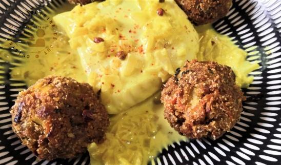Cabillaud et boulettes de légumes au colombo, menthe et poivre de Timut du Népal2