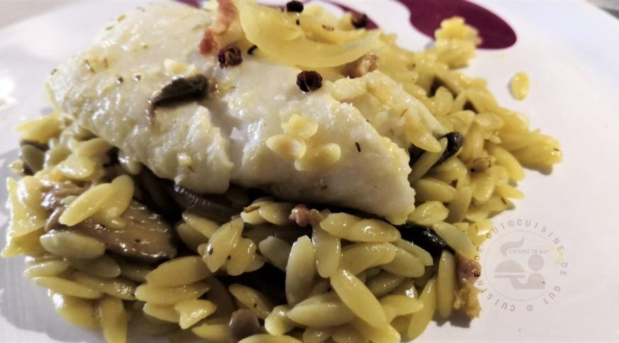 Dos d'eglefin pastasotto au poivre Timut et épices1