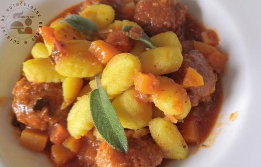 Gnocchis, butternut et boulettes au gingembre et sauge2