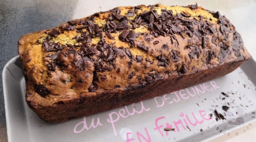 Cake super valinéé éclats de chocolat noir2