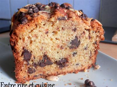 Cake vanille aux pépites de chocolat