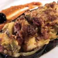 Aubergine au four jambon et Burrata