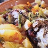 Souris d'agneau confites en tajine bien parfumé et relevé, mélange vitalité et légumes d'hiver