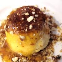 Mystère glacé vanille et caramel au pralin maison